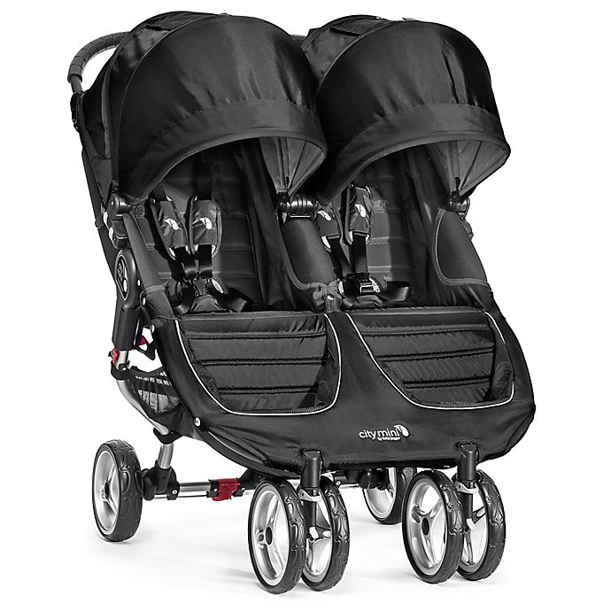 Alternate image 1 for Baby Jogger® City Mini® Double Stroller in Black/Grey