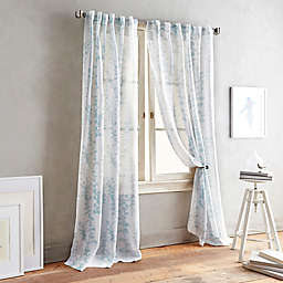 DKNY Front Row Back Tab Sheer Window Curtain Panel
