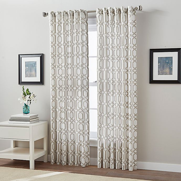 Buy Link 84-Inch Back Tab Window Curtain Panel In Linen