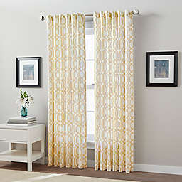 Link Back Tab Window Curtain Panel