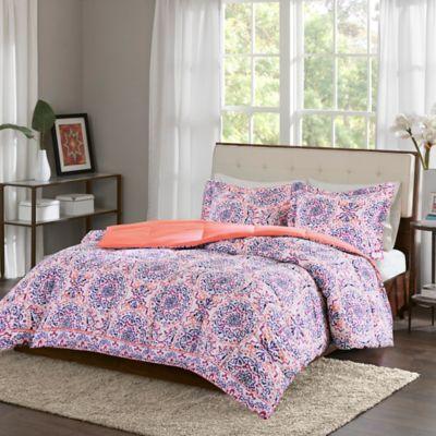 Intelligent Design Zoe Twin Twin Xl Comforter Set In Coral