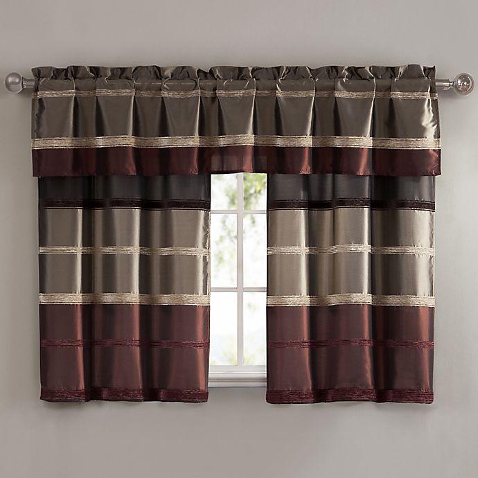 Bombay Bath Window Curtain Valance Tier Pair And Valance