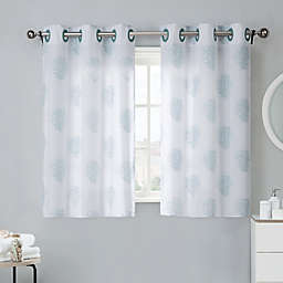 Coral Reef 38 Inch Bath Window Curtain Tier Pair In Grey Mist