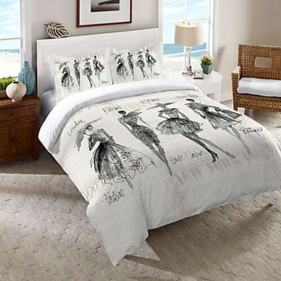 Laural Home Fashion Sketchbook Comforter