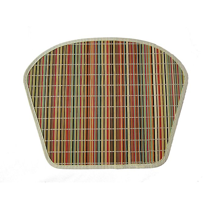 Bamboo Wedge Shaped Placemat In Bright Stripe