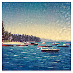 Wooden Boats 24-Inch x 24-Inch All-Weather Outdoor Canvas Wall Art