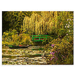 Water Garden 40-Inch x 30-Inch All-Weather Outdoor Canvas Wall Art