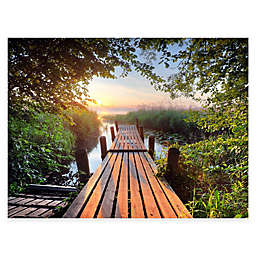Old Dock All-Weather Outdoor 40-Inch x 30-Inch Canvas Wall Art