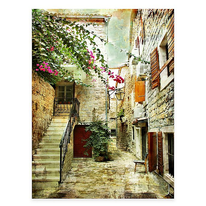 Quiet Courtyard All Weather Outdoor Canvas Wall Art Bed Bath Beyond