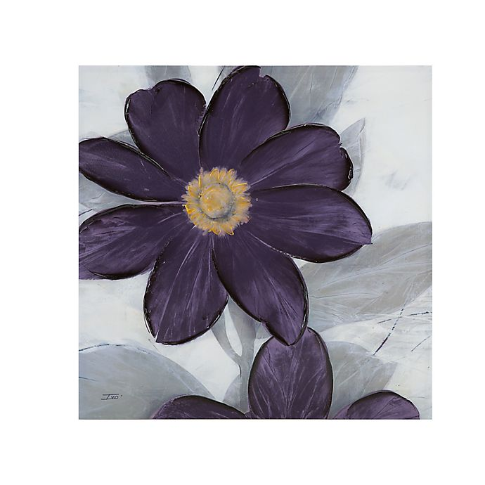 Alternate image 1 for Madison Park Midnight Bloom Canvas Wall Art in Plum