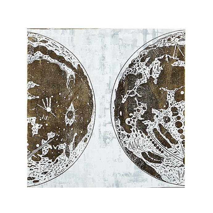 Alternate image 1 for INK+IVY Map of the Moon Canvas Wall Art