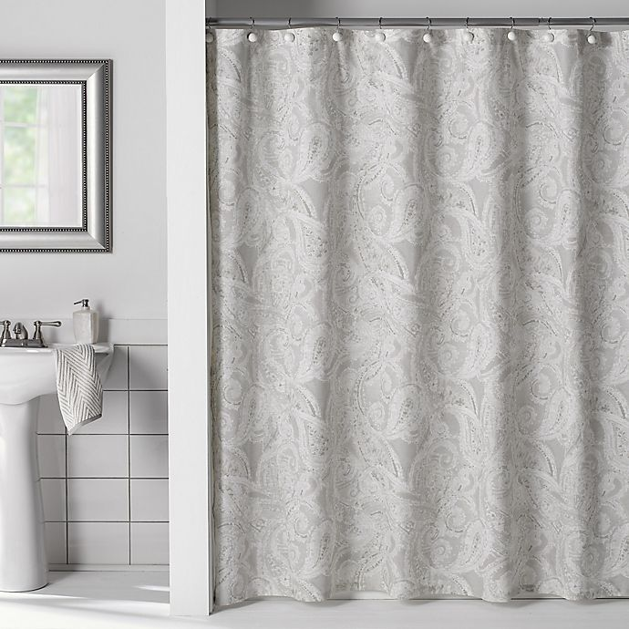 Flatiron Linen Paisley Shower Curtain