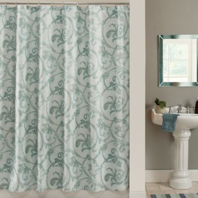 Savona Shower Curtain In Blue Bed Bath And Beyond Canada
