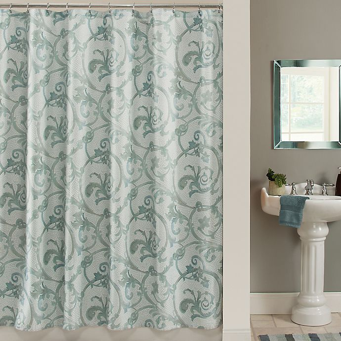 Alternate image 1 for Savona 72-Inch x 84-Inch Shower Curtain in Blue
