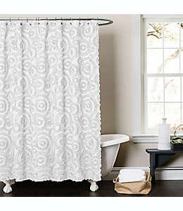 Cortina de baño de poliéster Keila color blanco