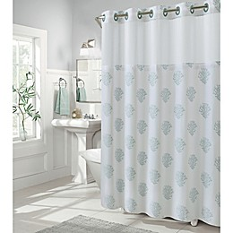 Hookless® Coral Reef Shower Curtain in Grey Mist