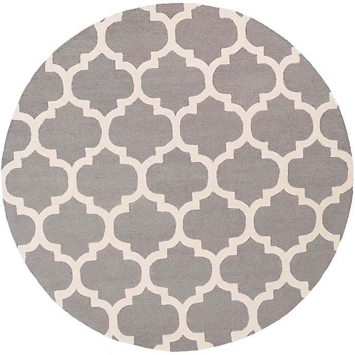 Alternate image 1 for Artistic Weavers Pollack Stella 3-Foot 6-Inch Round Area Rug in Grey/White