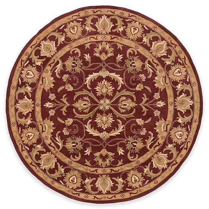 Alternate image 1 for Artistic Weavers Oxford Aria 6-Foot Round Area Rug in Red