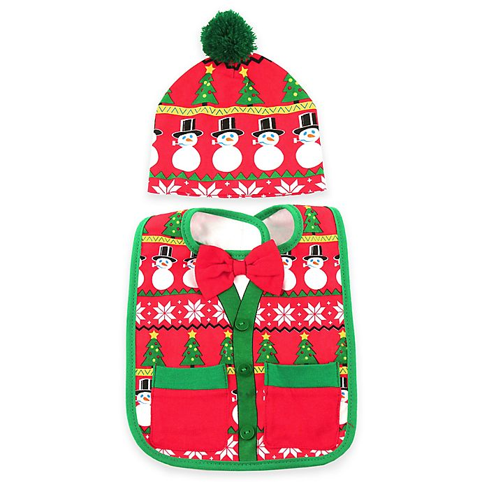 d075cfd5b Ugly Christmas Sweater Bib and Hat Set | buybuy BABY