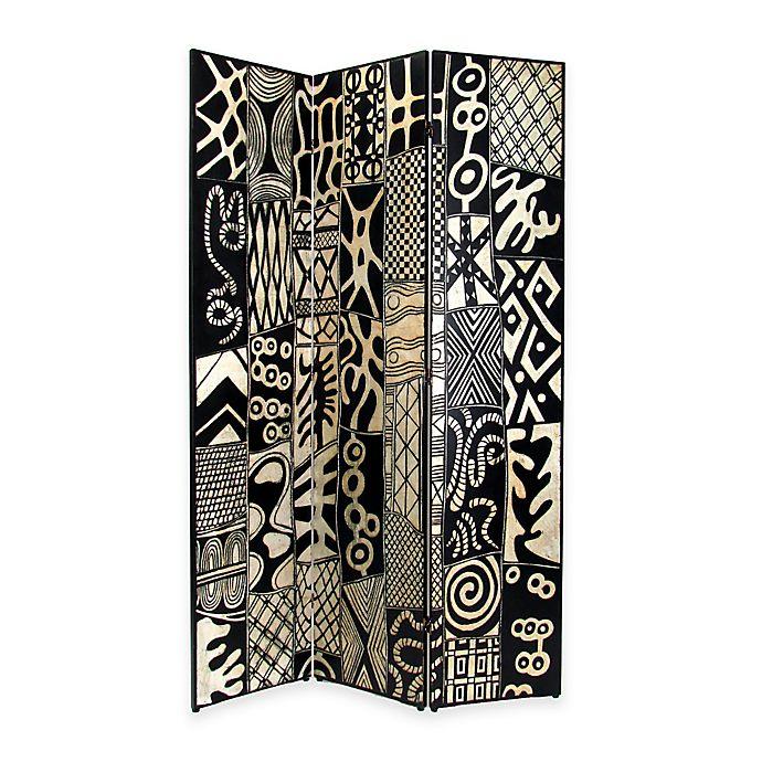Alternate image 1 for Wayborn® Coromandel Room Divider in Black/Silver