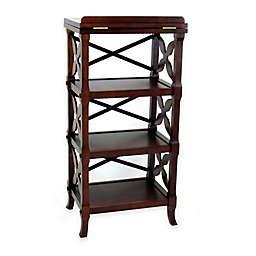 Wayborn Charter 3-Shelf Bookcase in Brown