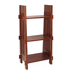 Wayborn Mission 3-Shelf Bookcase in Oak