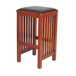 Wayborn Mission Style Bar Stool in Brown