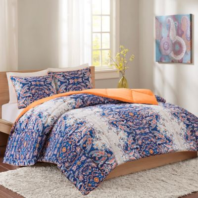 Intelligent Design Minnet Reversible Comforter Set In Blue Bed Bath Beyond