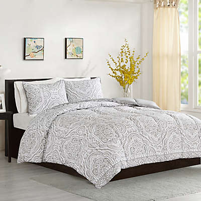 Intelligent Design Nitza Duvet Cover Set in Grey