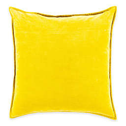 Surya Velizh 22-Inch Square Throw Pillow in Mustard