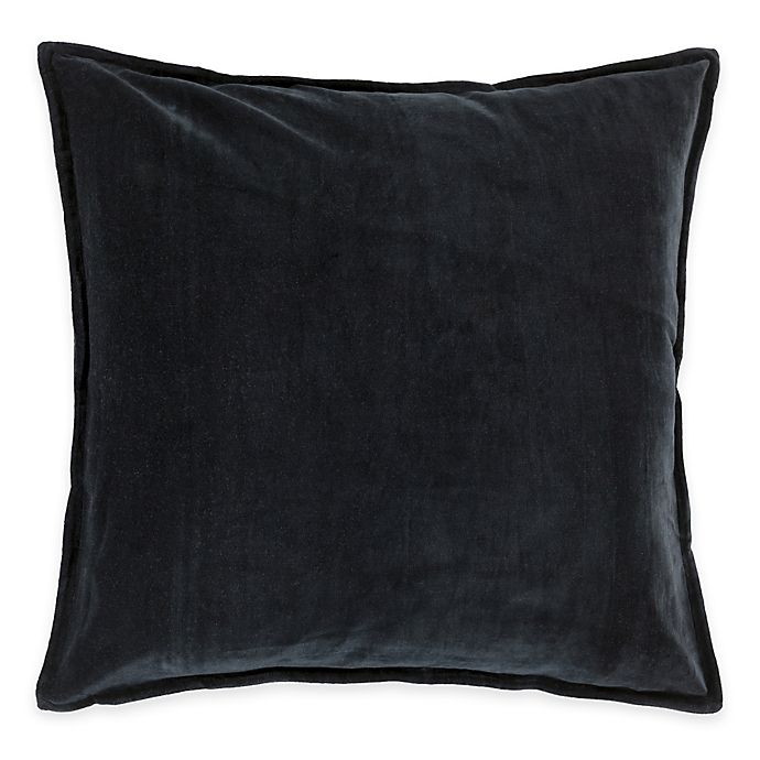 Alternate image 1 for Surya Velizh 22-Inch Square Throw Pillow in Charcoal