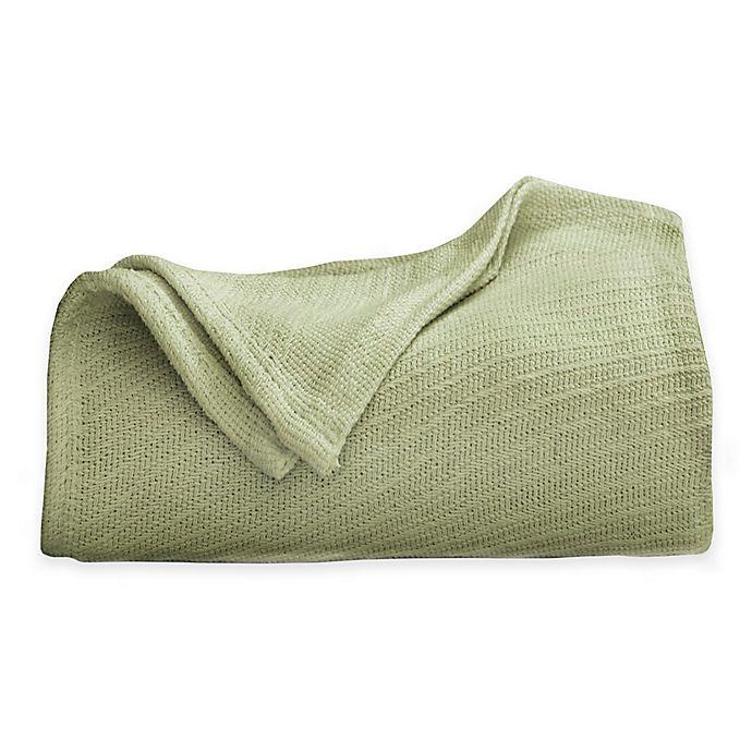 Alternate image 1 for Martex Cotton Full/Queen Blanket in Sage