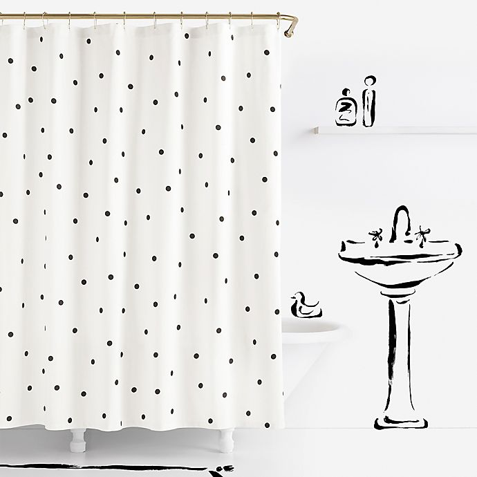Alternate image 1 for kate spade new york Deco Dot Shower Curtain
