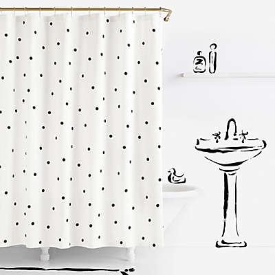 kate spade new york Deco Dot Shower Curtain