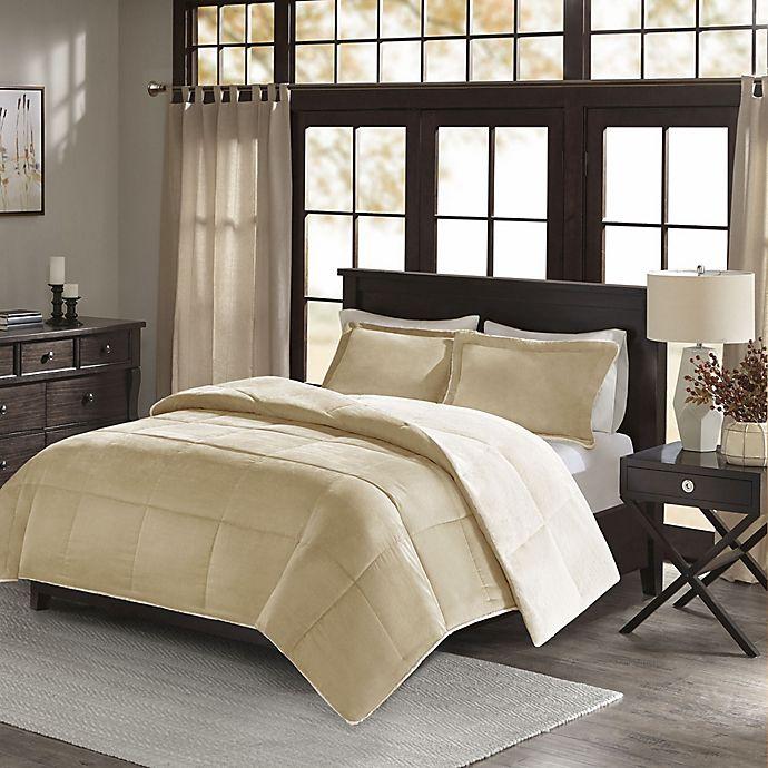 Alternate image 1 for Madison Park Jackson Corduroy Reversible Comforter Mini Set