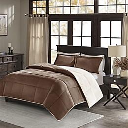 Madison Park Jackson Corduroy Reversible Comforter Mini Set