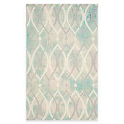 Safavieh Dip Dye Links 4-Foot x 6-Foot Area Rug in Green/Ivory