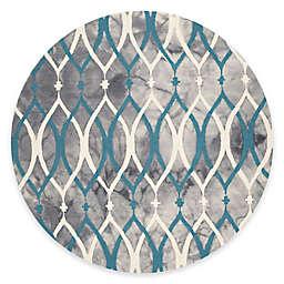 Safavieh Dip Dye Links 7-Foot Round Area Rug in Grey/Blue
