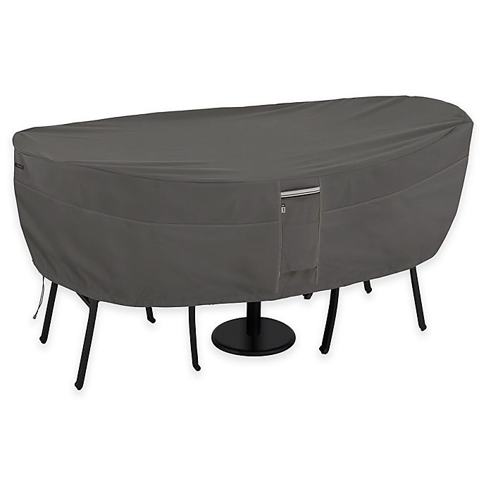 Alternate image 1 for Classic Accessories® Ravenna Patio Bistro Table and Chair Cover in Dark Taupe