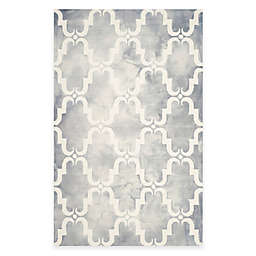 Safavieh Dip Dye Trellis Curve 4-Foot x 6-Foot Area Rug in Grey/Ivory