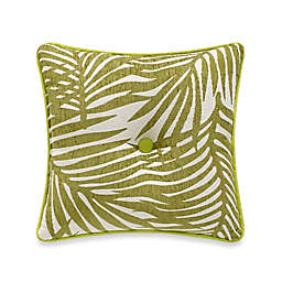 HiEnd Accents Capri Fern Tufted Square Throw Pillow in Green/White
