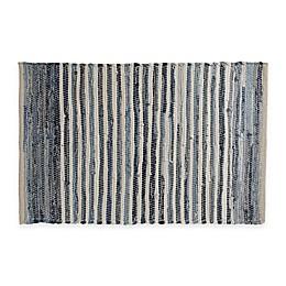 Chindi 20-Inch x 31.5-Inch Hand-Woven Kitchen Mat in Denim Stripe