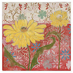 Marmont Hill Yellow Flowers 2 18-Inch x 18-Inch Canvas Wall Art