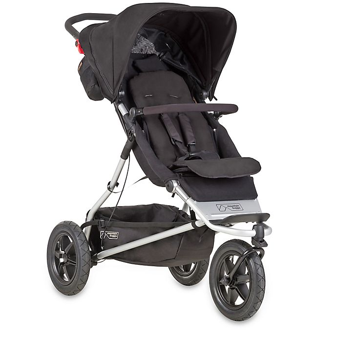 Alternate image 1 for Mountain Buggy® +one™ Inline Double Stroller in Black