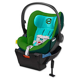 Cybex Platinum Cloud Q Infant Car Seat with Load Leg Base in Green Hawaiian