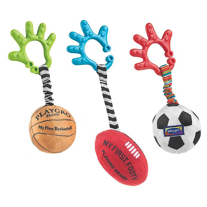 Alternate image 1 for Playgro™ 3-Piece Sports Balls Activity Toy Set