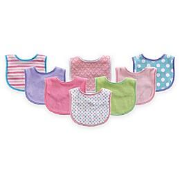 BabyVision® Luvable Friends® 8-Pack Drooler Bib Set in Pink