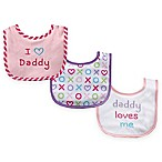 BabyVision® Luvable Friends® 3-Pack  I Love Daddy  Drooler Bib Set
