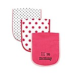 BabyVision® Luvable Friends® 3-Pack  I Love Mommy  Burp Cloth