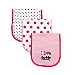 Luvable Friends  I Love Daddy  3-Pack Burp Cloth